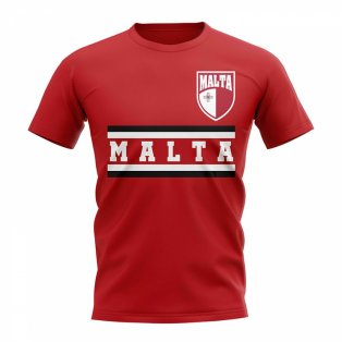 Malta Core Football Country T-Shirt (Red)