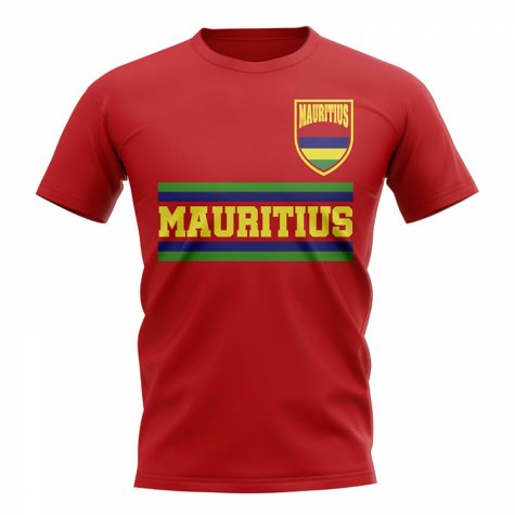 Mauritius Core Football Country T-Shirt (Red)