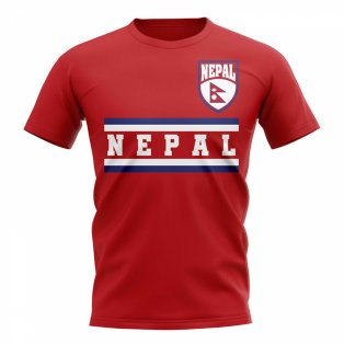 Nepal Core Football Country T-Shirt (Red)