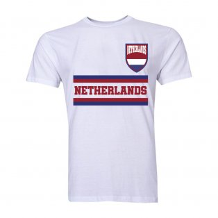 Netherlands Core Football Country T-Shirt (White)