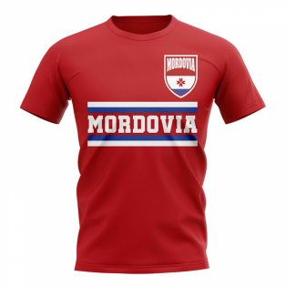 Mordovia Core Football Country T-Shirt (Red)