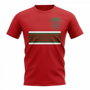 Morocco Core Football Country T-Shirt (Red)