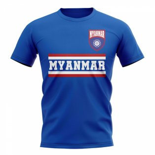 Myanmar Core Football Country T-Shirt (Blue)