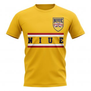 Niue Core Football Country T-Shirt (Yellow)