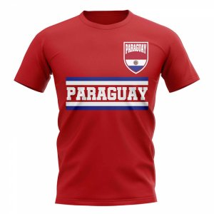 Paraguay Core Football Country T-Shirt (Red)