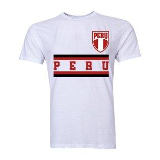 Peru Core Football Country T-Shirt (White)