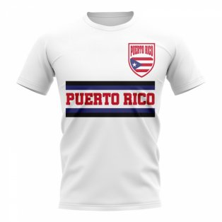 Puerto Rico Core Football Country T-Shirt (White)