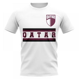 Qatar Core Football Country T-Shirt (White)