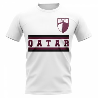 Qatar Core Football Country T-Shirt (White)