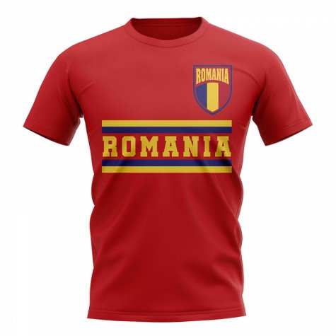 Romania Core Football Country T-Shirt (Red)