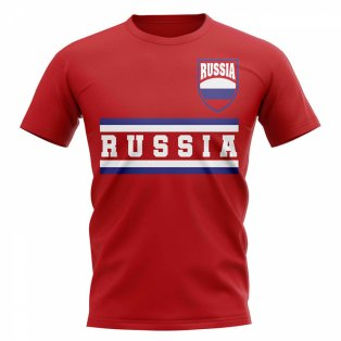 Russia Core Football Country T-Shirt (Red)