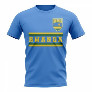 Rwanda Core Football Country T-Shirt (Sky)