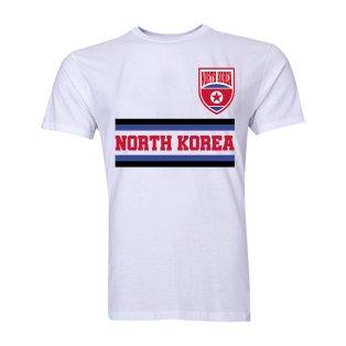 North Korea Core Football Country T-Shirt (White)