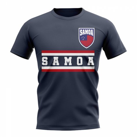 Samoa Core Football Country T-Shirt (Navy)