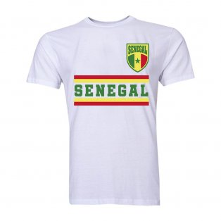 Senegal Core Football Country T-Shirt (White)