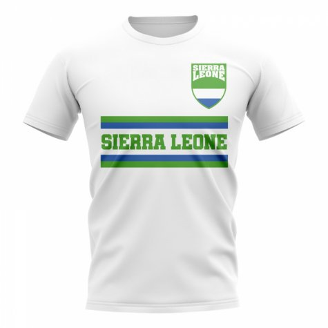 Sierra Leone Core Football Country T-Shirt (White)