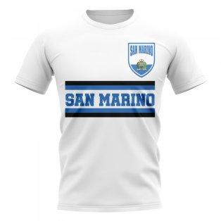 San Marino Core Football Country T-Shirt (White)