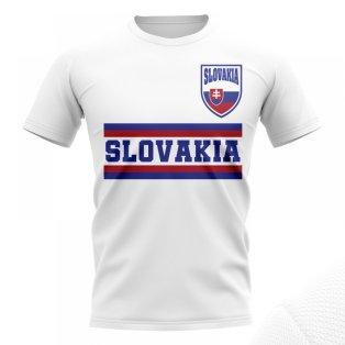 Slovakia Core Football Country T-Shirt (White)
