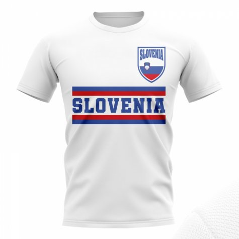 Slovenia Core Football Country T-Shirt (White)