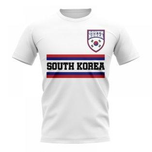 South Korea Core Football Country T-Shirt (White)