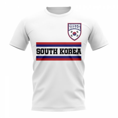 South Korea Core Football Country T-Shirt (White)