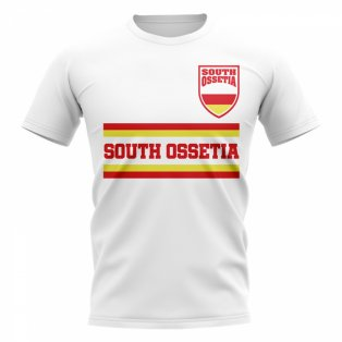 South Ossetia Core Football Country T-Shirt (White)