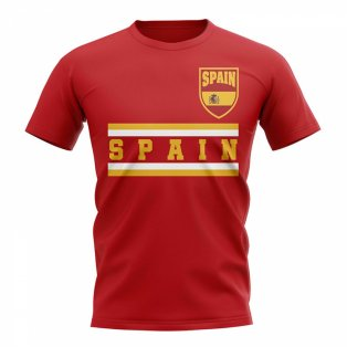 Spain Core Football Country T-Shirt (Red)