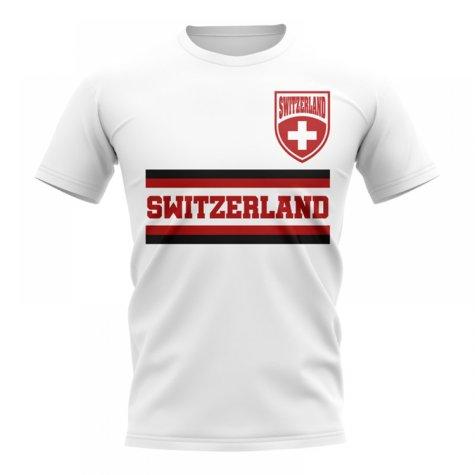 Switzerland Core Football Country T-Shirt (White)