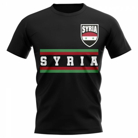 Syria Core Football Country T-Shirt (Black)