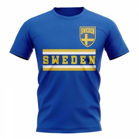 Sweden Core Football Country T-Shirt (Blue)