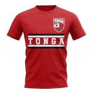Tonga Core Football Country T-Shirt (Red)