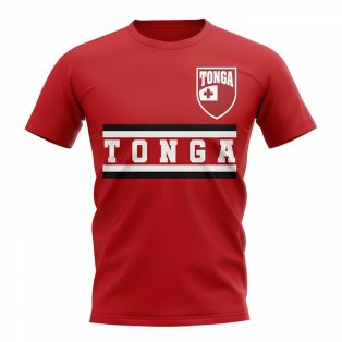 Tonga Core Football Country T-Shirt (Red)