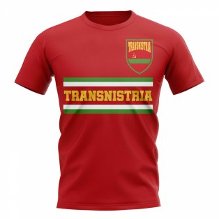 Transnistria Core Football Country T-Shirt (Red)