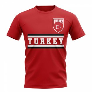 Turkey Core Football Country T-Shirt (Red)