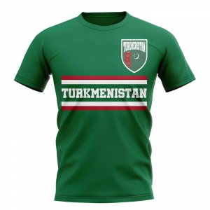 Turkmenistan Core Football Country T-Shirt (Green)