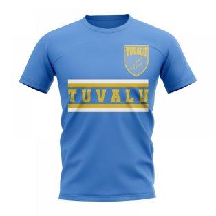 Tuvalu Core Football Country T-Shirt (Sky)