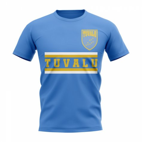 Tuvalu Core Football Country T-Shirt (Sky)