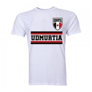 Udmurtia Core Football Country T-Shirt (White)