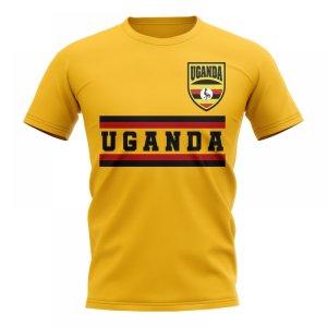 Uganda Core Football Country T-Shirt (Yellow)