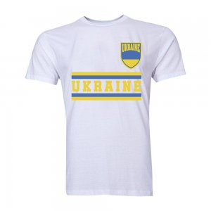 Ukraine Core Football Country T-Shirt (White)
