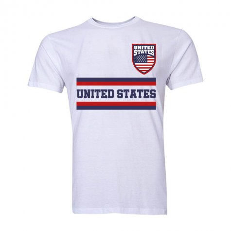 United States Core Football Country T-Shirt (White)