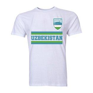 Uzbekistan Core Football Country T-Shirt (White)