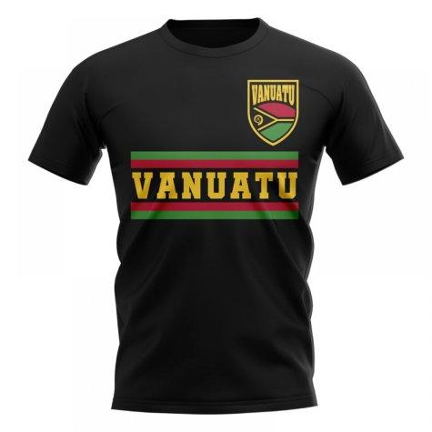 Vanuatu Core Football Country T-Shirt (Black)