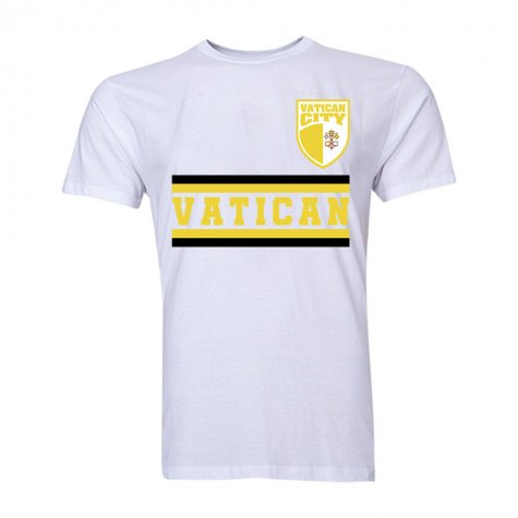 Vatican City Core Football Country T-Shirt (White)