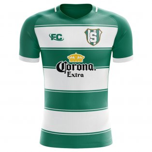 2018-2019 Santos Laguna Fans Culture Home Concept Shirt - Womens