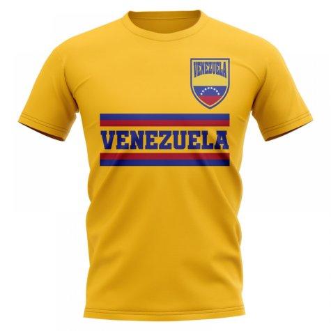 Venezuela Core Football Country T-Shirt (Yellow)