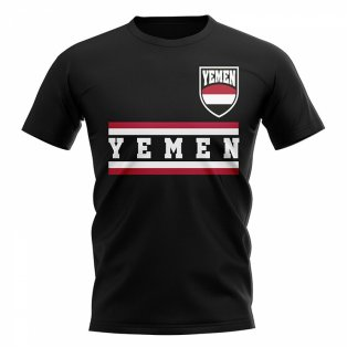 Yemen Core Football Country T-Shirt (Black)