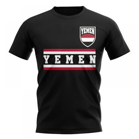 Yemen Core Football Country T-Shirt (Black)