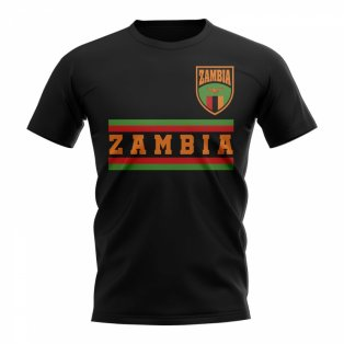 Zambia Core Football Country T-Shirt (Black)