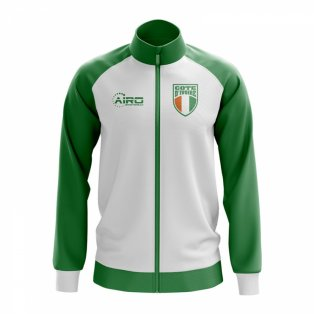 Ivory Coast Concept Football Track Jacket (White)